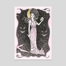 Dama do Horror - Canvas by Janaina Medeiros