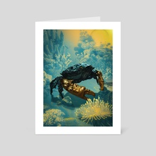 Golden Crab - Art Card by Hubert Pelerin