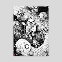 The necromancer, Gerald (ballpoint) - Canvas by Jordan Lewerissa