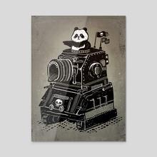 Panda's Terrible Tank of Terror - Acrylic by Ronan Lynam