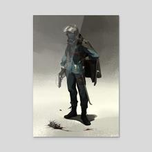 Outlaw - Acrylic by Michael Kenji