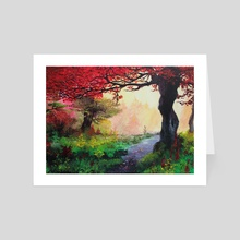Enchanted forest - Art Card by Melissa Falconi