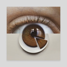 The Eye-cing on The Cake - Canvas by Monica Carvalho