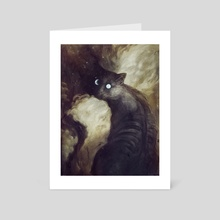 The Cat And the Moon - Art Card by Jana Heidersdorf