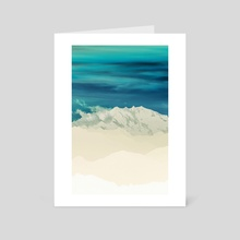 Blue Mountain - Art Card by 83 Oranges