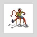 take a seat - Art Print by Braulio Perez