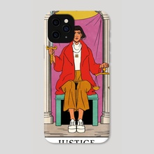 Justice - Modern Witch Tarot - Phone Case by Lisa Sterle