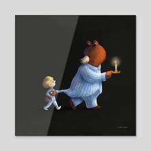 Pyjama Walk - Acrylic by Greg Abbott