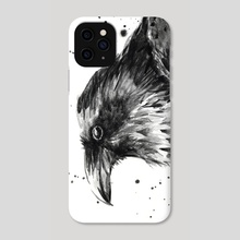 Raven Watercolor - Phone Case by Olga Shvartsur