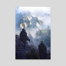 Mountain Castle  - Canvas by Johann BLAIS