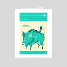 P is for PIG - Art Card by Jazzberry Blue
