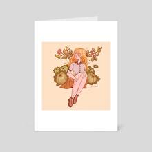 Cabbage Girl - Art Card by Hyemin Yoo