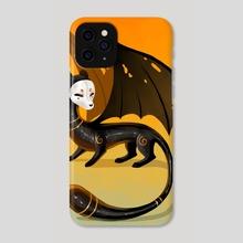 Black Stoat - Phone Case by Indré Bankauskaité