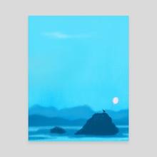 Blue Dawn - Canvas by Cindy Kang