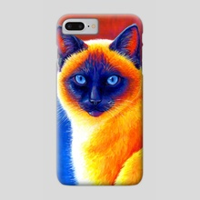 Jewel of the Orient - Colorful Siamese Cat - Phone Case by Rebecca Wang