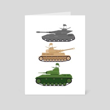 Battle Tanks - Art Card by Onno Knuvers