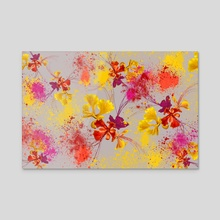 Flowers explosion - Canvas by NiRa surface design