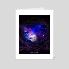 EARTH FROM SPACE - Art Card by Bipin Koirala