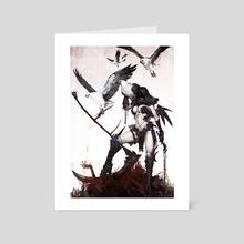 Bluesteel Eyrie - Art Card by Luke Mancini