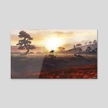 Forsaken Cowboy - Acrylic by Onur Bakar