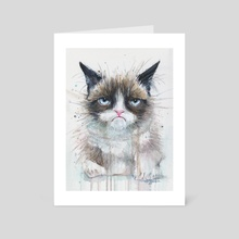 Not a Happy Kitty - Art Card by Olga Shvartsur