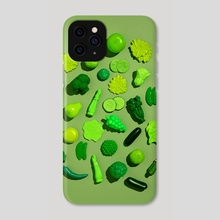 Fake Food   Green - Phone Case by Gerard + Belevender