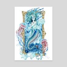 Turquoise sea Mermaid  - Canvas by Giulia Ghersi