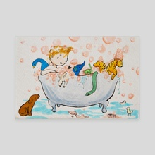 Bathtime - Canvas by KC Carl