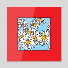 Flowery Goodness 2 - Acrylic by Melinda Magyar