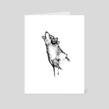 Howl at the Moon - Art Card by Meg Owenson
