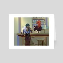 Kaeya and diluc - Art Card by Juno Liberty