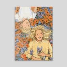 flower field - Acrylic by alex siple