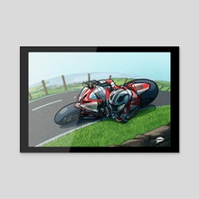 William Dunlop 2013 Isle of Man TT - Acrylic by Rich Lee