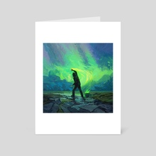 Late Night Painter - Art Card by Artem Cheboha