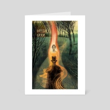 Eugene Onegin Fire - Art Card by Anna and Elena Balbusso Twins