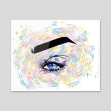 Eye Drawing #1 - Acrylic by Jade Dream