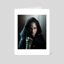 Warrior Princess - Art Card by Andre Koekemoer