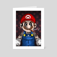 Tattooed Mario - Art Card by Ephrem Rokk