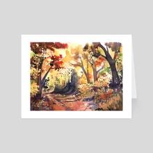 Autumn Path - Art Card by Dominika Darowna