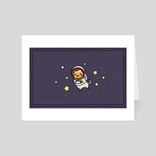 Cat in Space - Art Card by Amy Gerardy