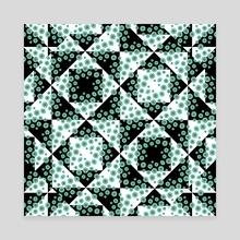 Ditsy Check Geometric Print Pattern - Canvas by Daniel Ferreira Leites