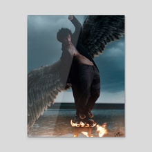 Fallen  - Acrylic by Kartik  Mishra