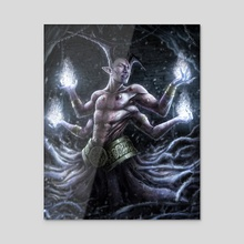 Demon Lord - Acrylic by Tek Koon Scott
