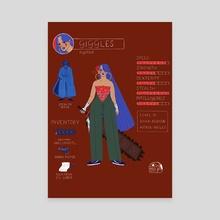 Las Poderosas Series: Giggles - Canvas by Gabriela Riveros