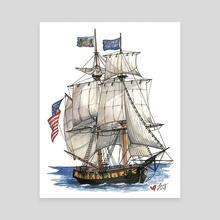 U.S. Brig Niagara Under Sail - Canvas by Lucy Bellwood