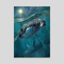 Whale Sonata - Canvas by Joyful Enriquez