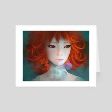 Orange Hair - Art Card by Arthur Tribuzi
