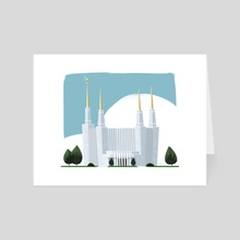 Washington DC LDS Temple - Art Card by Matthew Eng