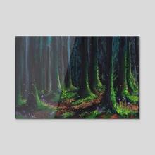 Midnight forest - Acrylic by Emma Falconer