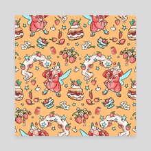 Strawberry Shortcake  - Canvas by Maggie Tseng